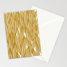 Golden Yellow Leaves Stationery Cards