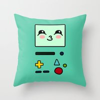bmo Throw Pillows featuring BMO by Janice Wong