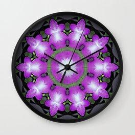 mandals violet flower Wall Clock