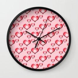 herzen collage 2 Wall Clock