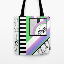AMPS Deux - Abstract, Marble, Pastel, Stripes Tote Bag