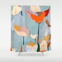 Abstract Art Flowers Shower Curtain