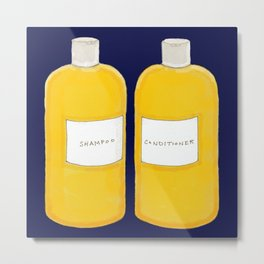 Shampoo & Conditioner (blue) Metal Print