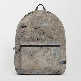 Abstract vintage black gray ivory marble Backpack