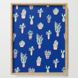 Little cactus pattern - Princess Blue Serving Tray