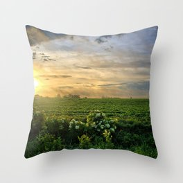 Elderberries and Soybeans Throw Pillow
