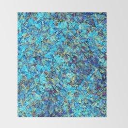 Turquoise Pebble Pool Ripple Throw Blanket