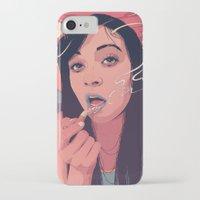 queen iPhone & iPod Cases featuring Moth Queen by Conrado Salinas