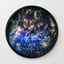 A perfect sunset over NASAs Kennedy Space Center in Florida Wall Clock