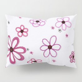 Pink Posies Pillow Sham