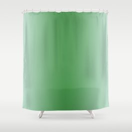 Pastel Green to Green Vertical Bilinear Gradient Shower Curtain
