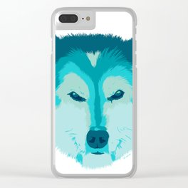 husky - wht Clear iPhone Case