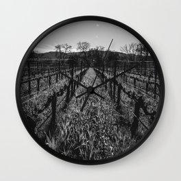 Napa Vines Wall Clock