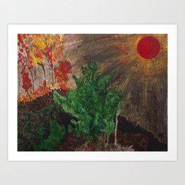 Natures Anger Art Print