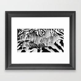 Honey I Pixel Sorted The Cat Framed Art Print