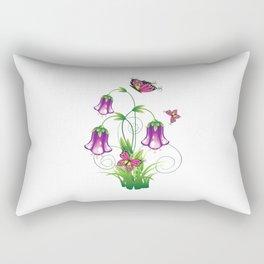 Bluebell Flower with Leaves Rectangular Pillow