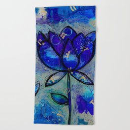 Abstract - Lotus flower - Intuitive Beach Towel