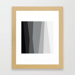 Geometric Harmony Angles Abstract Framed Art Print