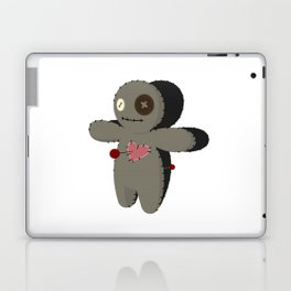 Voodoo doll. Cartoon horror elements. Spooky fear trick or treat Laptop & iPad Skin