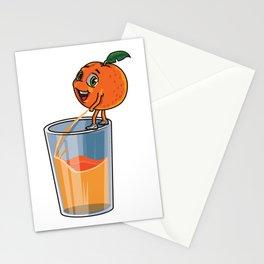 Freshly Squeezed Orange Juice Stationery Cards