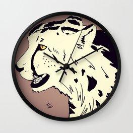 King Cheetah Wall Clock