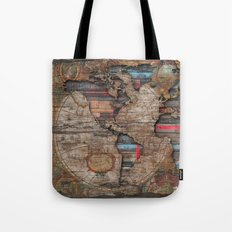 Distress World Tote Bag