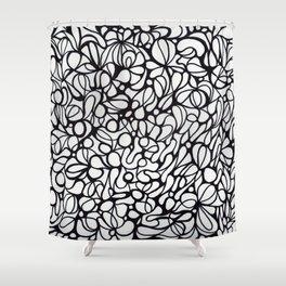 black & white  Shower Curtain