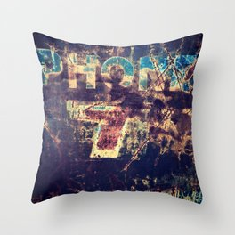 Vintage Truck Sign Throw Pillow