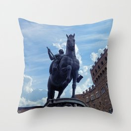 Piazza della Signoria, Florence Throw Pillow