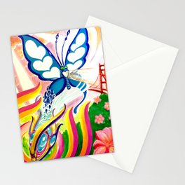 """SF Butterfly"" by Adam France Stationery Cards"