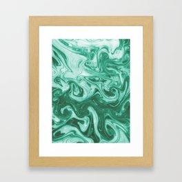 Eiji - modern minimal marbled ink paper monoprint printmaking japanese spilled ink artwork  Framed Art Print