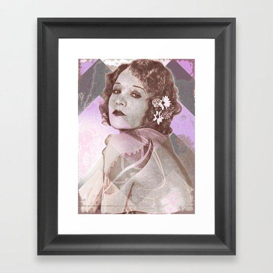 Betty Compson Eyes Framed Art Print