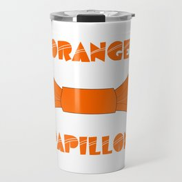ORANGE PAPILLON Travel Mug
