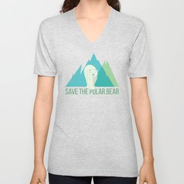 Polar Bear North Pole Arctic Animal Unisex V-Neck
