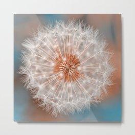 Dandelion Plasma Metal Print