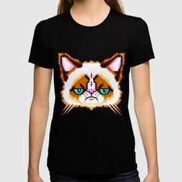 Grumpy Cat Geometric Pattern T-shirt
