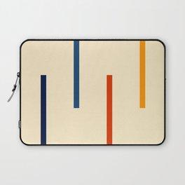 Abstract Minimal Retro Stripes Bikram Laptop Sleeve
