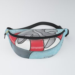 Manatee in a Swim Ring Fanny Pack