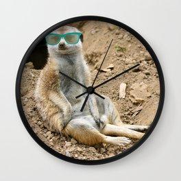 Sunny Meerkat Wall Clock