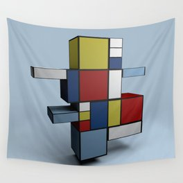 Composition with Red Blue and Yellow Wall Tapestry