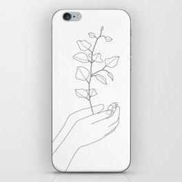 Minimal Hand Holding the Branch II iPhone Skin