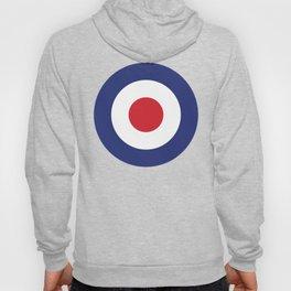 Roundel British Bullseye War Plane Target Icon MOD 60s Britain Hoody