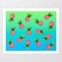 Pineapple Galore Art Print