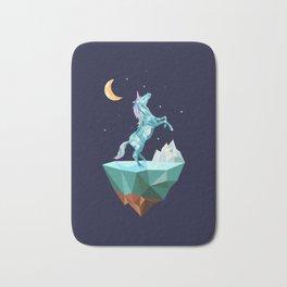 unicorn in the universe Bath Mat