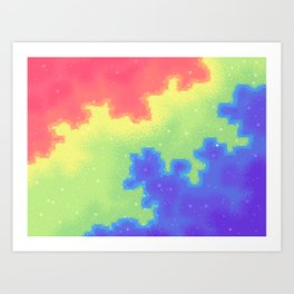 Rainbow Pride Flag Galaxy Art Print