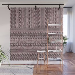 triangle kilim in pale pink Wall Mural