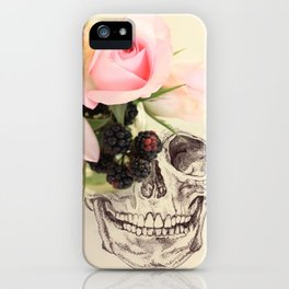 roses and blackberries iPhone Case