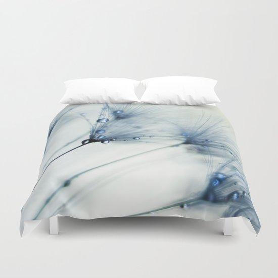 dandelion blue Duvet Cover