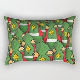 PHEASANTS - Birds | Funny | Comics | Rush | Stupid | Vector | Texture | LOL | Animals  Rectangular Pillow