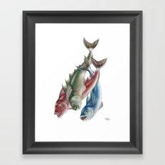 INKYFISH - Fish friends Framed Art Print